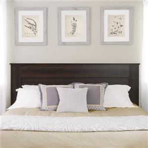 Prepac King Flat Panel Headboard - Espresso