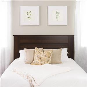 Tête de lit à panneau plat pour grand lit, expresso