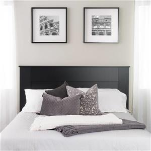 Prepac Queen Flat Panel Headboard, Black