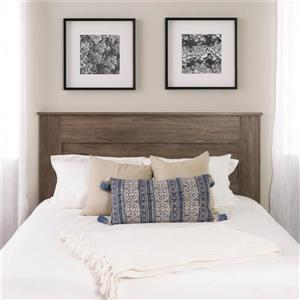 Prepac Queen Flat Panel Headboard - Drifted Gray