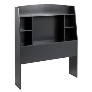 Prepac Astrid Twin Headboard with shelf - Black