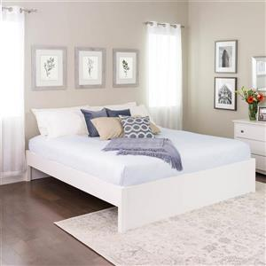 Prepac Select 4-Post Platform Bed - White - King