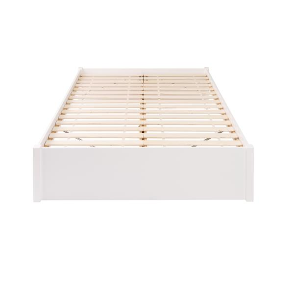 Prepac Select 4-Post Platform Bed - White - Queen