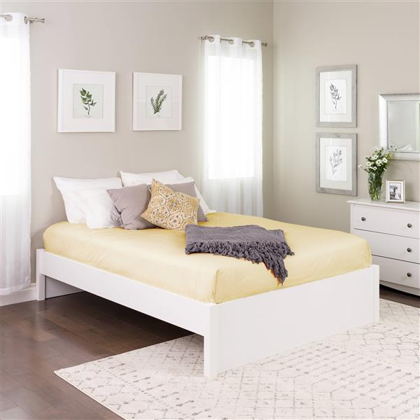 Prepac Select 4 Post Platform Bed, Queen Bed No Headboard