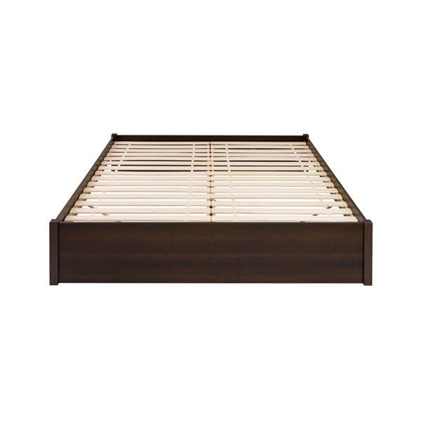 Prepac Select 4-Post Platform Bed - Espresso - King