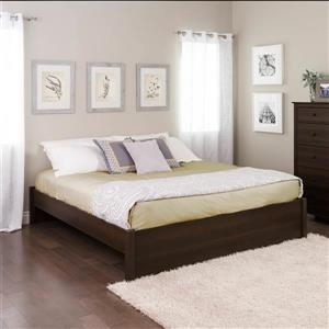 Prepac Select 4-Post Platform Bed - Espresso - King