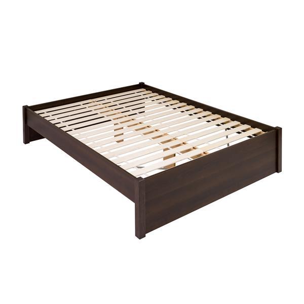 Prepac Select 4-Post Platform Bed - Espresso - Queen