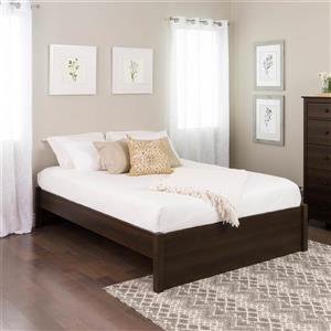 Prepac Select 4-Post Platform Bed - Espresso - Queen