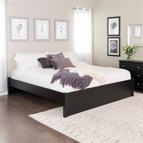 Prepac Select 4-Post Platform Bed - Black - King