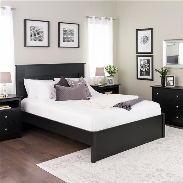 Prepac Select 4-Post Platform Bed - Black - Queen