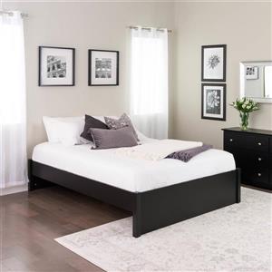 Base de grand lit plateforme à colonnes Select, noir