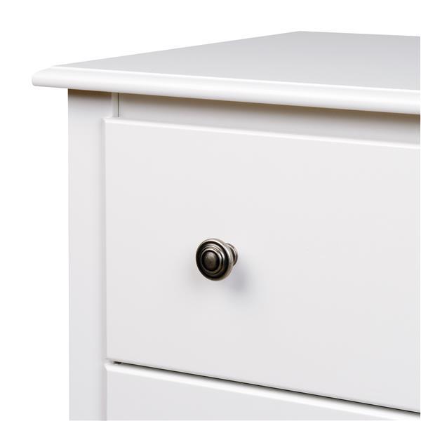 Prepac Monterey Chest - 5-Drawer - White - 45-in x 31-in
