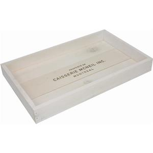 McNeil Wooden Serving Tray - White - 17-in x 10.5-in