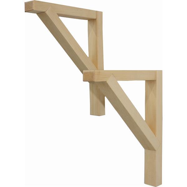 McNeil Wooden brackets - 7-in x 9-in x 1-in - Set of 2