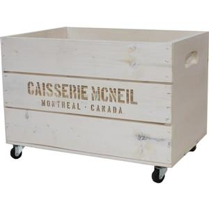 McNeil White wooden crate on wheels - Storage - 17.75-in x 11.5-in
