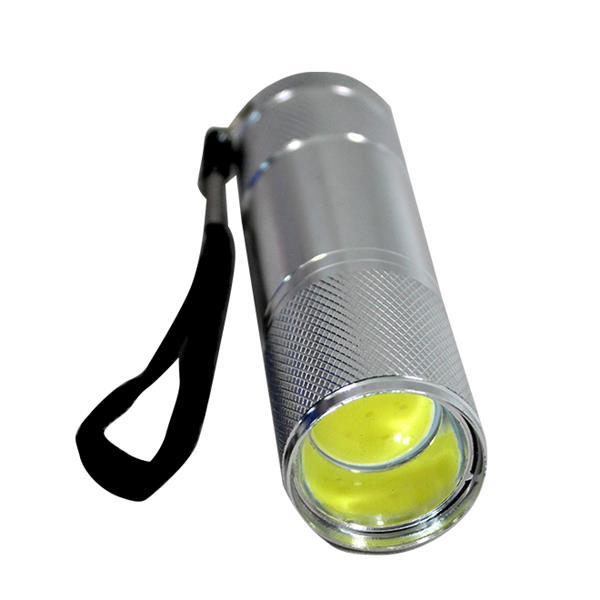 iGlow COB Aluminum Flashlights - Blue/Gray - 2 pcs