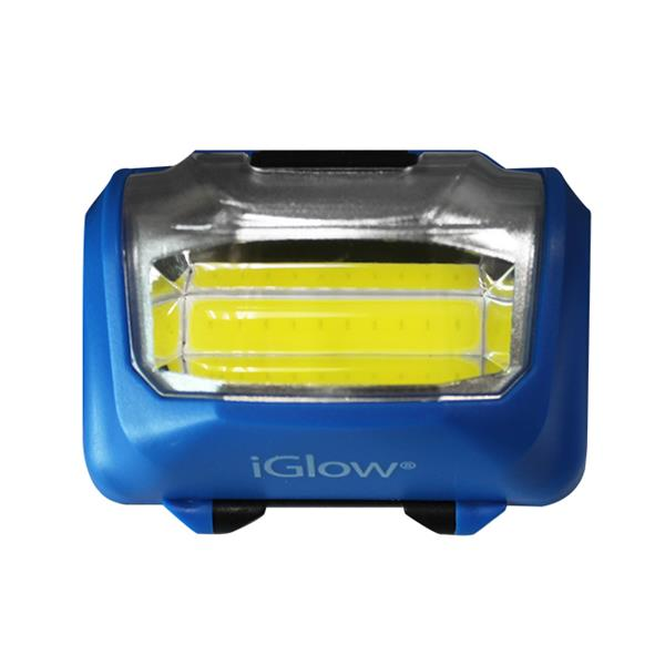 iGlow COB Flashlights and Headlamp - 5 Pieces