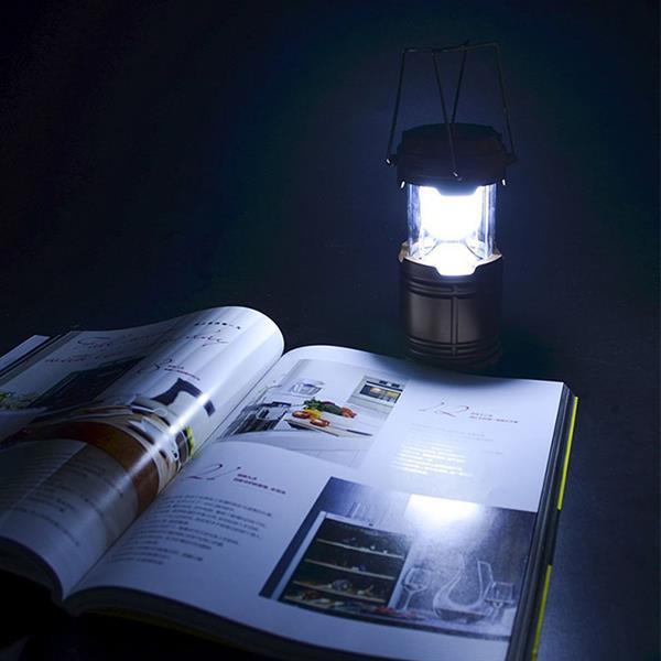 "iGlow Camping Lantern -  3.4"" x 4.9"" - Plastic - Black"