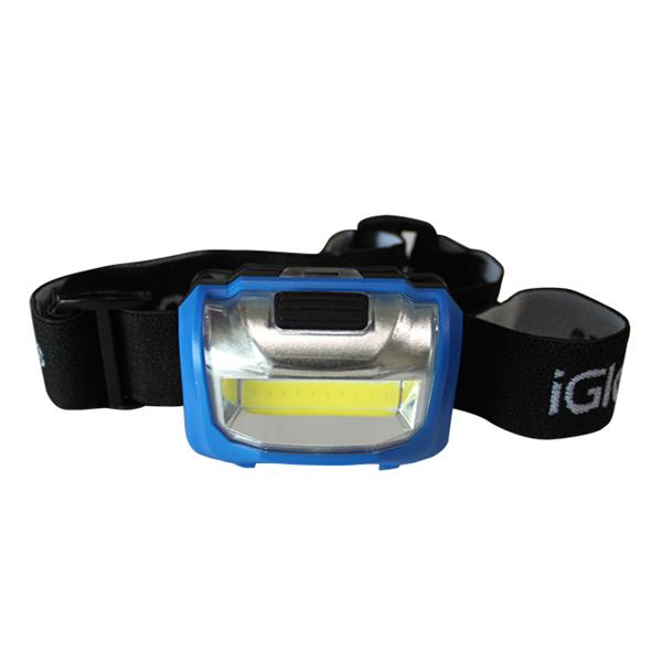 iGlow 2 COB Headlamps - Blue - Pack of 2
