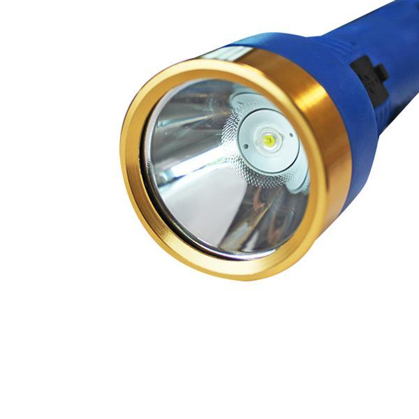 """iGlow LED Rechargeable Flashlight USB - 6.1"""" - Blue"""