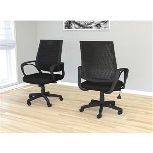 """Chaise de bureau en maille, multi-position, noir, 37-41"""""""
