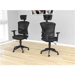 Chaise de bureau Executive en résille multi position - noir