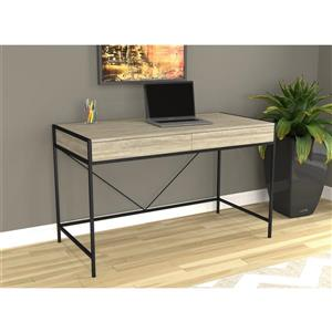 Safdie & Co. Computer Desk- Dark Taupe/Black Metal - 49-in