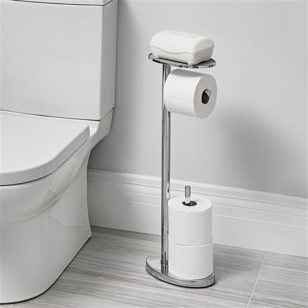 Better Living Better Living OVO Toilet Caddy - Chrome - 25.6-in