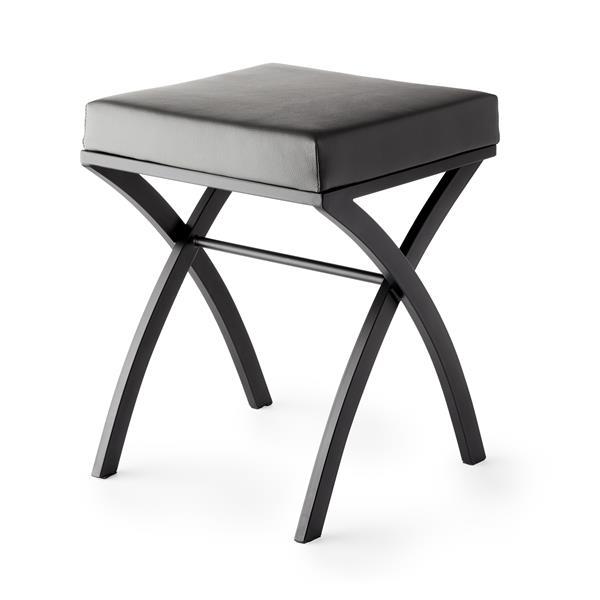 Better Living ONDA Vanity Seat - Black and Grey - 14-inx 14-inx 18.25-in