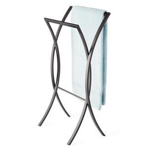 Better Living ONDA Double Towel Stand - Black - 18-inx 11.5-inx 34.75-in