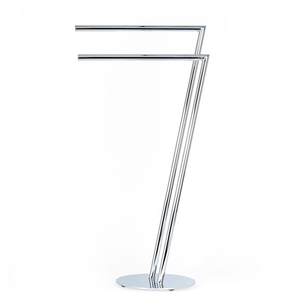 Better Living SETTE Double Towel Stand - Chrome - 18-inx 10.25-in x 32.25-in