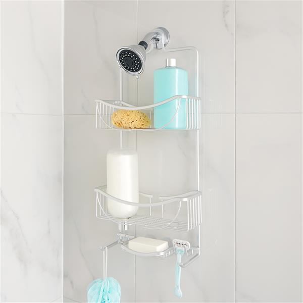 Better Living VENUS 3 Tier Shower Caddy - Silver - 11-inx 4.5-in x 24-in