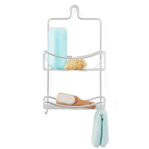 Better Living VENUS 2 Tier Shower Caddy - Silver - 11-inx 4.5-inx 19.5-in