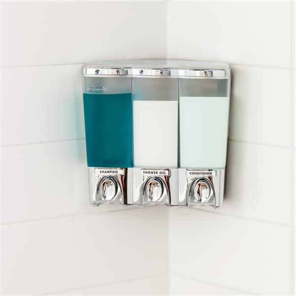 Better Living CLEAR CHOICE Soap Dispenser - Chrome - 3 compartments
