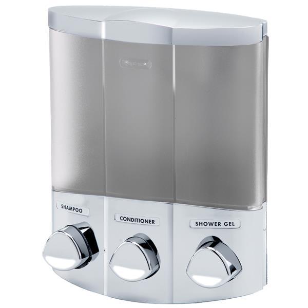 Better Living TRIO Soap Dispenser - Satin Silver - 7-in x 3.75-in x 8.75-in