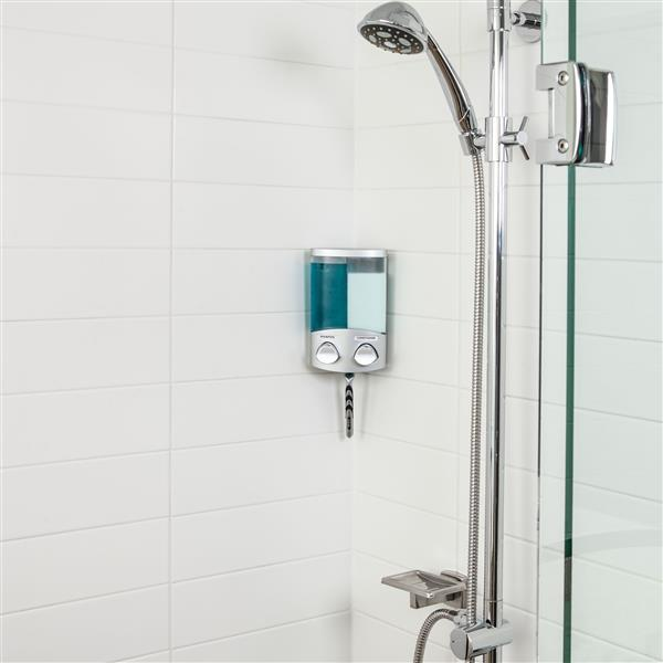 Better Living DUO Shower Dispenser - Satin Silver - 2 x 310 ml