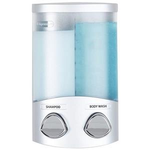 Distributeur de savon pour la douche DUO, Argent, 2 x 310 ml