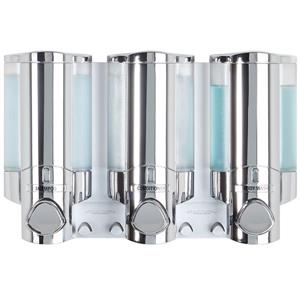 Better Living AVIVA Saop Dispenser for the shower - Chrome - 3 x 310 ml