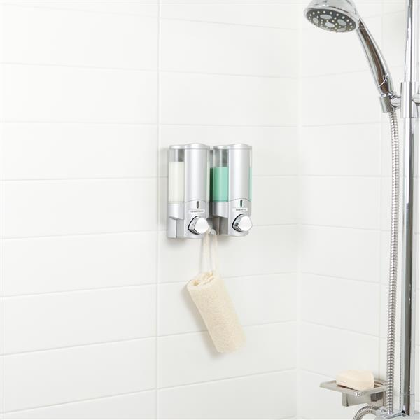 Better Living AVIVA Shower Soap Dispenser - Satin Silver - 2 x 310 ml