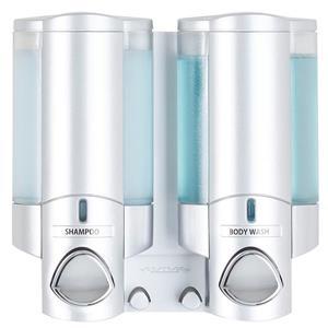 Distributeur de savon pour douche AVIVA, Argent, 2 x 310 ml