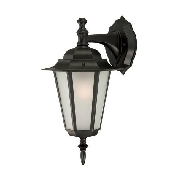 "Acclaim Lighting Camelot 1-Light Wall Mount Lantern - 8"" x 14.5"" - Black"