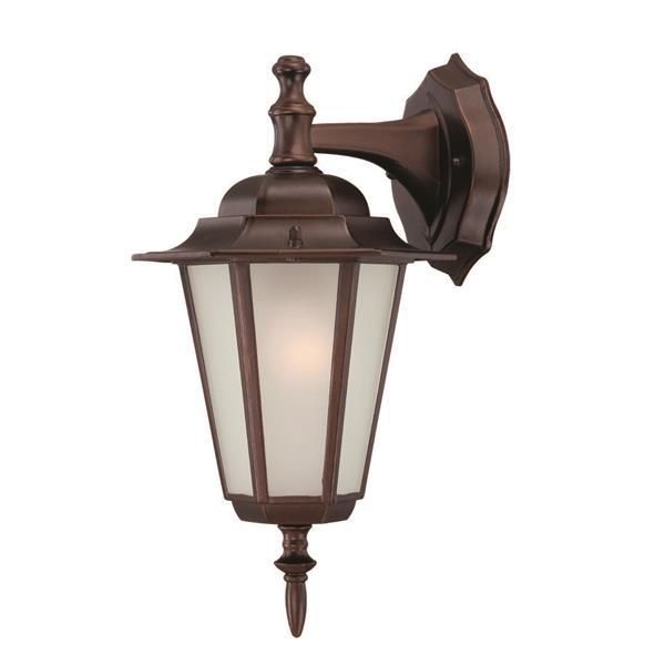 "Acclaim Lighting Camelot 1-Light Wall Mount Lantern - 8"" x 14.5"" - Bronze"