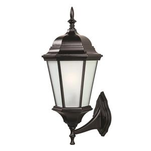 "Acclaim Lighting Richmond 1-Light Wall Mount Lantern - 9"" x 21.5"" - Black"