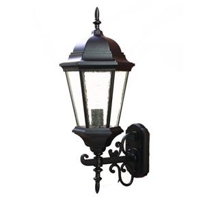 "Acclaim Lighting Richmond 1-Light Wall Mount Lantern - 9"" x 23"" - Black"
