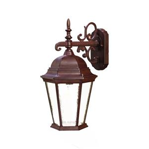 "Acclaim Lighting Richmond 1-Light Wall Mount Lantern - 9.5"" x 17.5"" - Walnut"