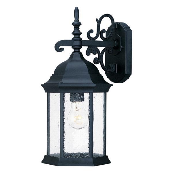 "Acclaim Lighting Madison 1-Light Wall Mount Lantern - 6.1"" x 15"" - Black"
