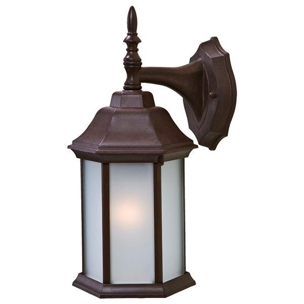 "Acclaim Lighting Craftsman 2 1-Light Wall Mount Lantern - 13"" - Walnut"