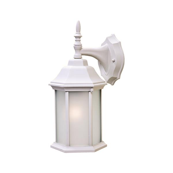 "Acclaim Lighting Craftsman 2 1-Light Wall Mount Lantern - 8"" x 15.5"" - White"