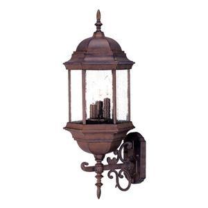 "Acclaim Lighting Madison 3-Light Wall Mount Lantern - 9"" x 26"" - Walnut"