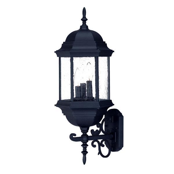 "Acclaim Lighting Madison 3-Light Wall Mount Lantern - 9"" x 26"" - Black"